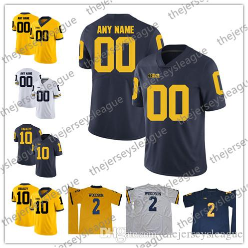 ac3ba1445 2019 Michigan Wolverines College Football Custom  2 5 10 Brady Navy Blue  White Yellow Limited Stitched Personalized Any Name Number Jerseys S 3XL  From ...
