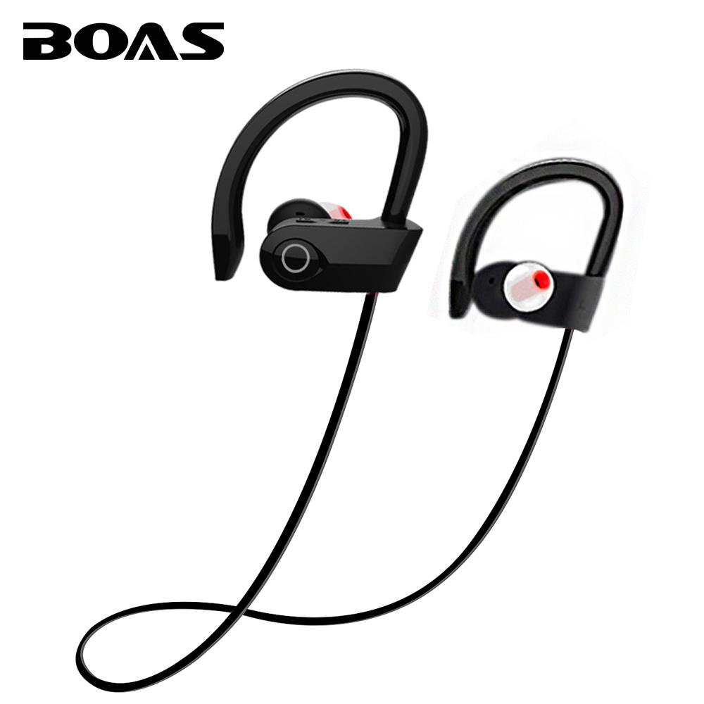 526b1019a3f BOAS Bluetooth V4.1 Wireless Earphone Running Stereo Headset Sport  Headphone Music With Mic Ear Hook Handsfree For Smartphone 50 Cent Headphones  Best ...