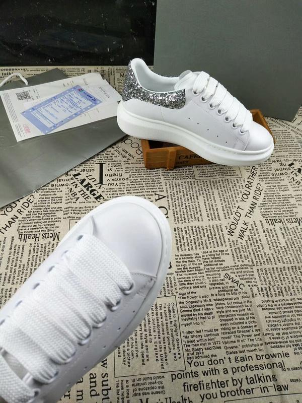 b69960f0b104 Top Quality Luxury Men Women Rivets Flat Shoes Cowhide Leather Alexander MQ  Casual Couple Shoes Sneakers Size 35 46 With Box Womens Shoes Shoes For  Women ...