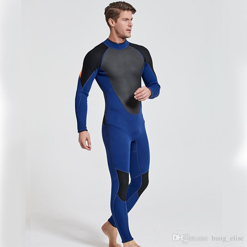 3mm neoprene long sleeve wetsuit diving suit watersport wetsuit diving suit scuba diving surfing suit for men