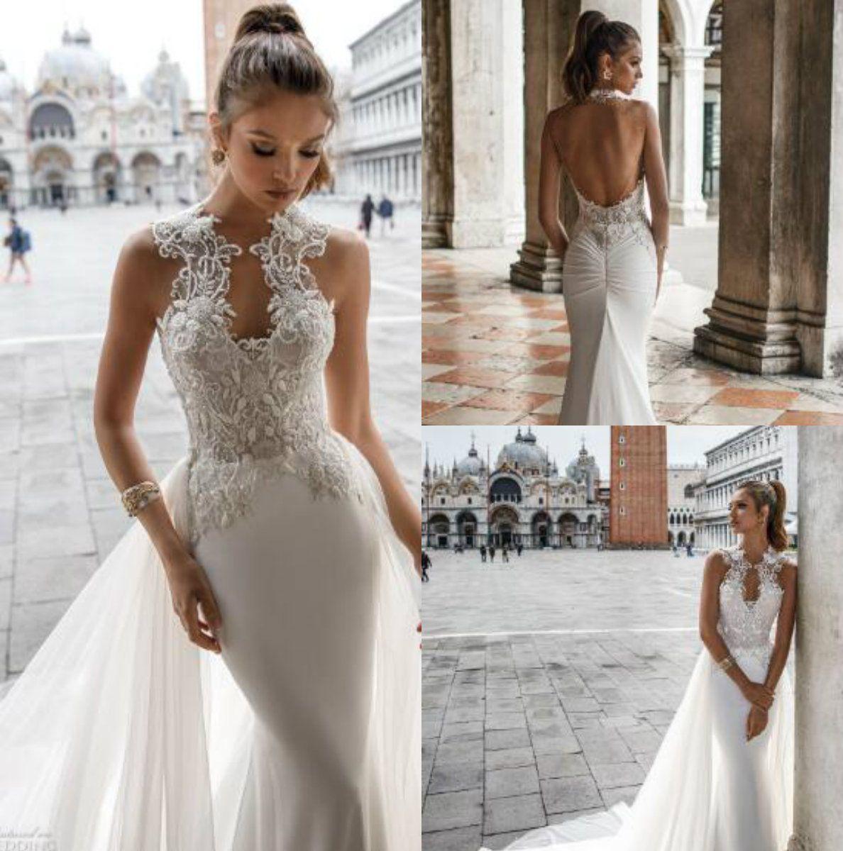 2018 Julie Vino Vintage Mermaid Wedding Dresses Backless Lace Bridal