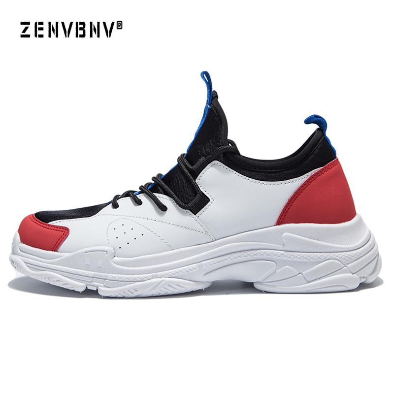 Zenvbnv 2018 New Pu Leather Running Shoes For Men Sneakers Outdoor ... 85d615c738de