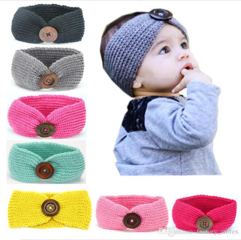 Großhandel Ins Baby Wolle Häkeln Stirnband Stricken Haarband Mit