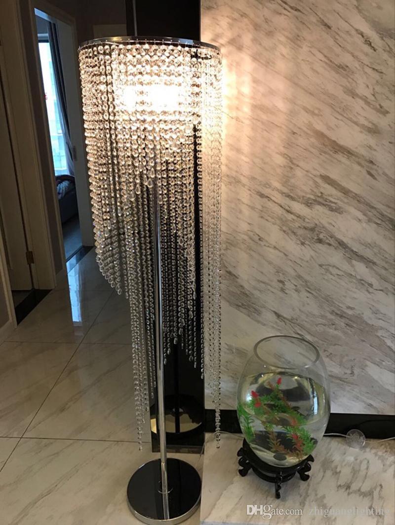 2019 Led Fashion Modern Crystal Floor Lamp Living Room