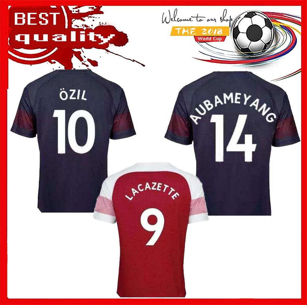 519e7fe5878 2018 2019 Arsenal Gunners OZIL ALEXIS AUBAMEYANG Soccer Jersey 2018 ...