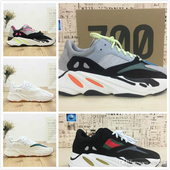 cheap for discount ab4b5 20674 Wholesale New 700 Kanye West Wave Runner 700 Mens Women Design By Kanye  West Season 5 700s Sneakers Men size 36-45