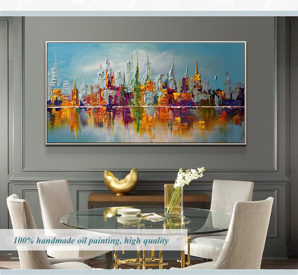 Compre Arte De La Pared De Lona Grande Cuadros Decorativos Modernos