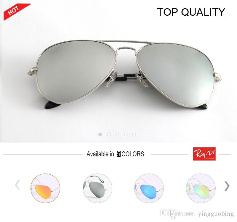 1640dec4519 2018 New Fashion Brand Designer Reflective Pink Pilot Flash Sunglasses  Women Men Aviation Metal Frame Mirror Female Gafas Sun Glasses Cat Eye  Sunglasses ...