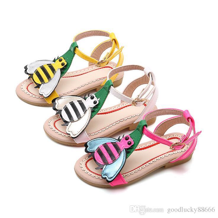 859fd9d3fb6ca ... Petit Bee Filles Sandales Enfants D été Bébé Filles Sandales Chaussures  Antidérapant Enfants En Bas Âge Enfants Chaussures De Chaussures Taille 21  35 De ...