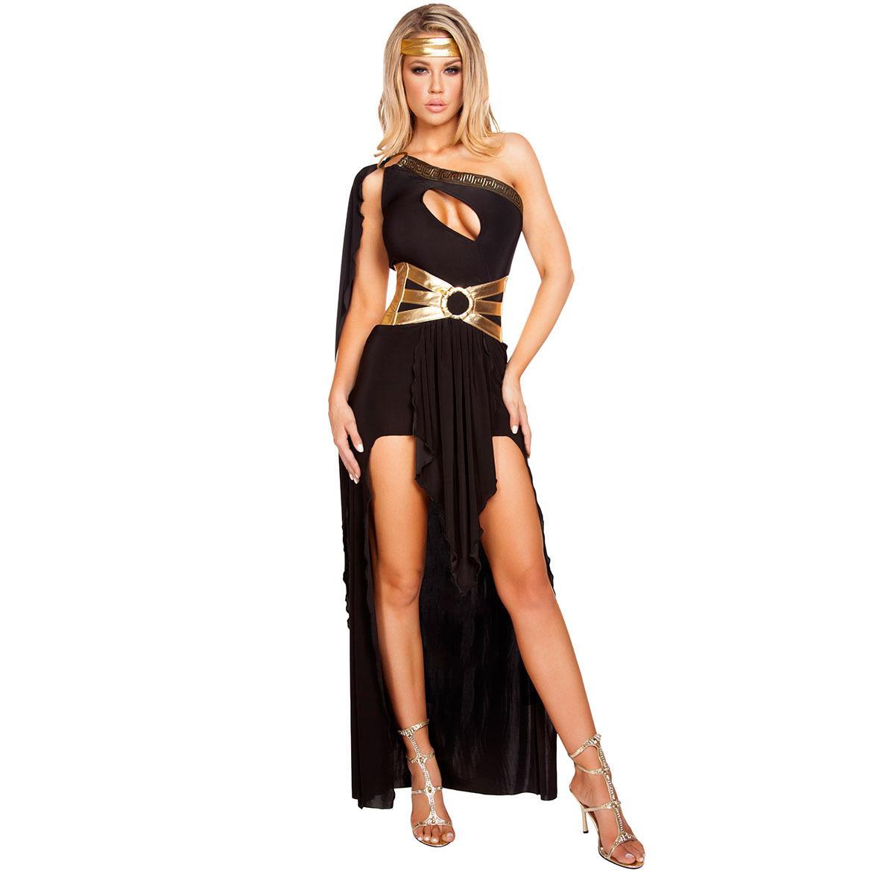 a9d885c5b ... Exterior Trajes De Palco Trajes Vestido De Deusa Europeia E Americana  Das Mulheres Single Shouldered Lingerie Barata De Maiweiting