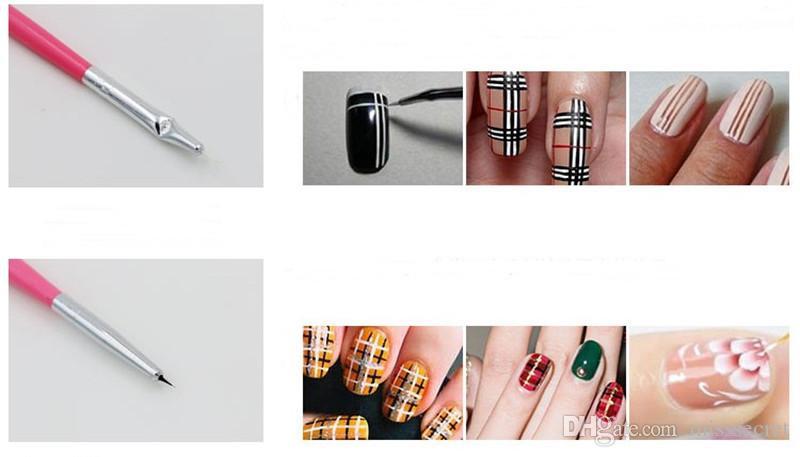 / Set professionnel UV Gel Nail Art Brosses Set Nail Design Polonais Peinture Dessin Stylo Manucure Nail Outils