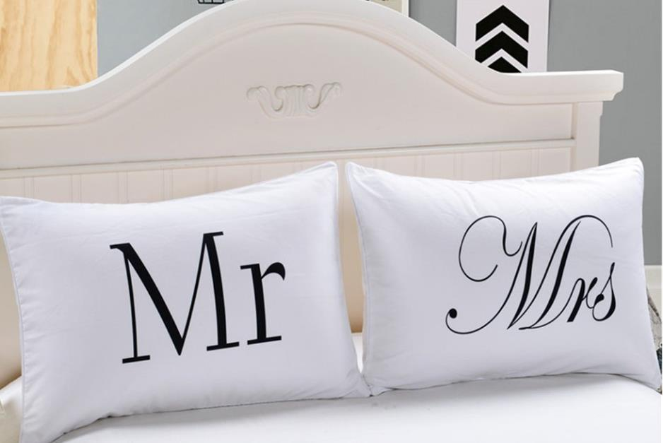 Mr And Mrs Pillow Cases Couple Pillow Case His And Hers Personalized Custom Mr And Mrs Pillow Covers