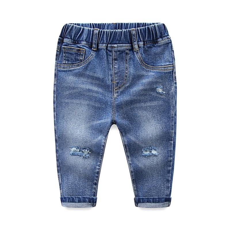 bdde5c9c4 Compre Roupa Dos Miúdos Menino Menina Calça Jeans Bebê Roupas Menina 2018  Nova Moda Buraco Jeans 2T 7T Bebê Menino Roupas Casuais Jeans Menina Para  Meninas ...