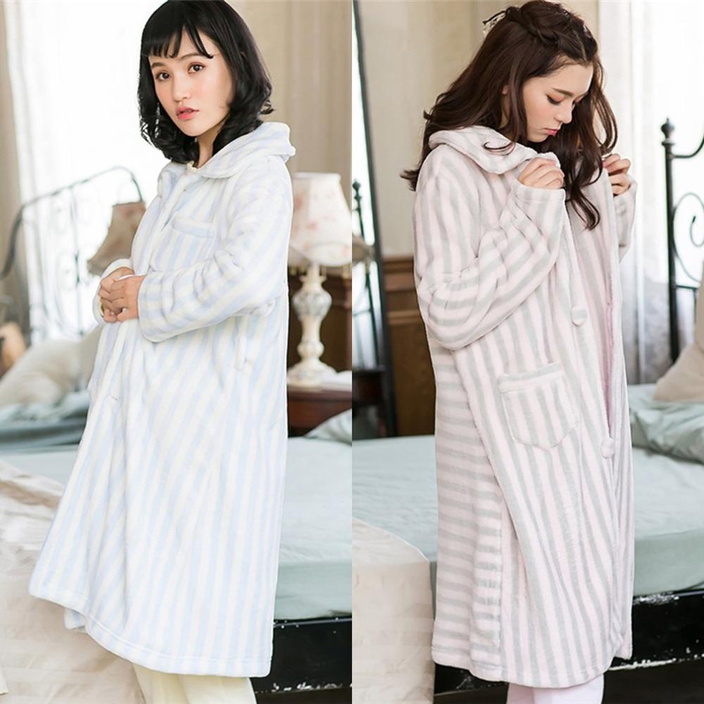46487a9918 SWEETPINE Blue Striped Nightrobes Turndown Square Collar Pajamas ...