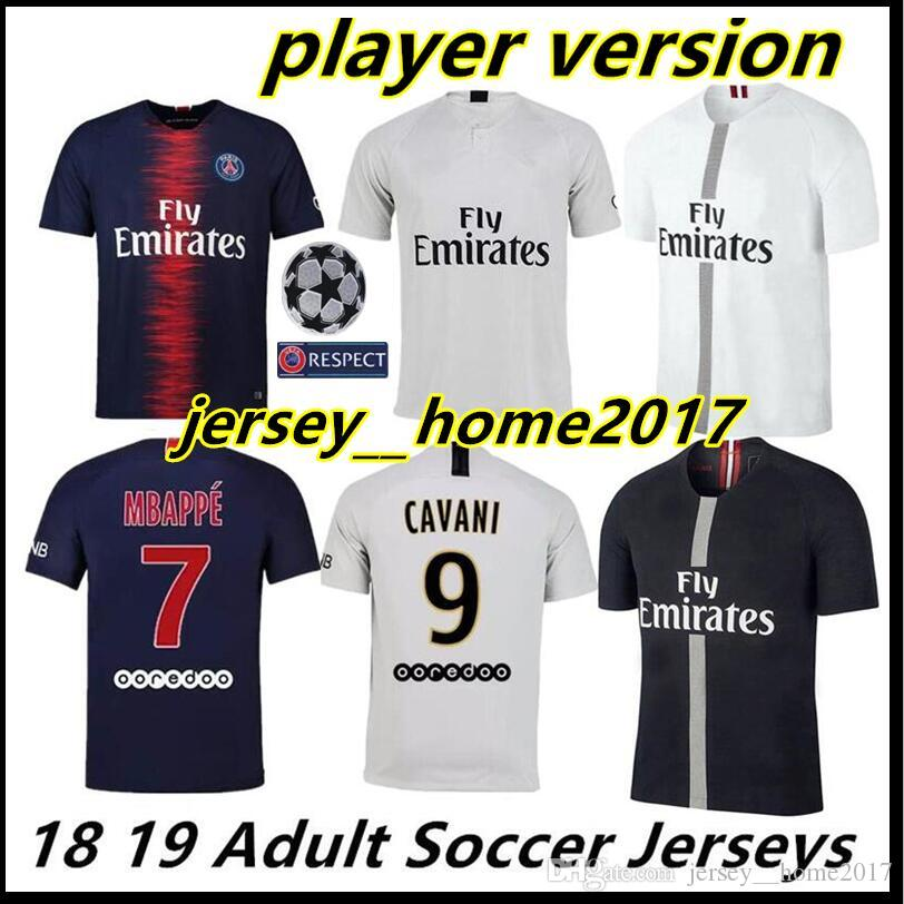 2019 2019 Player Version MBAPPE PSG Home Away Soccer Jerseys T SILVA CAVANI  DI MARIA PASTORE Verratti Saint Germain 18 19 PARIS Football Shirts From ... 873d3922e