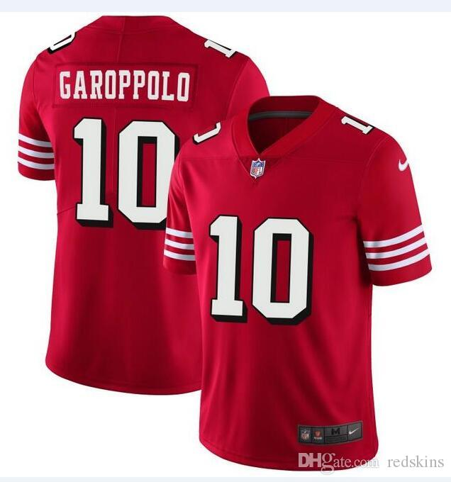 1ff268a2e 2018 Jimmy Garoppolo Jersey San Francisco 49ers Ronnie Lott Joe Montana  American Football Jerseys Best Sellers Discount Cheap Wholesale Hot Sale  From ...