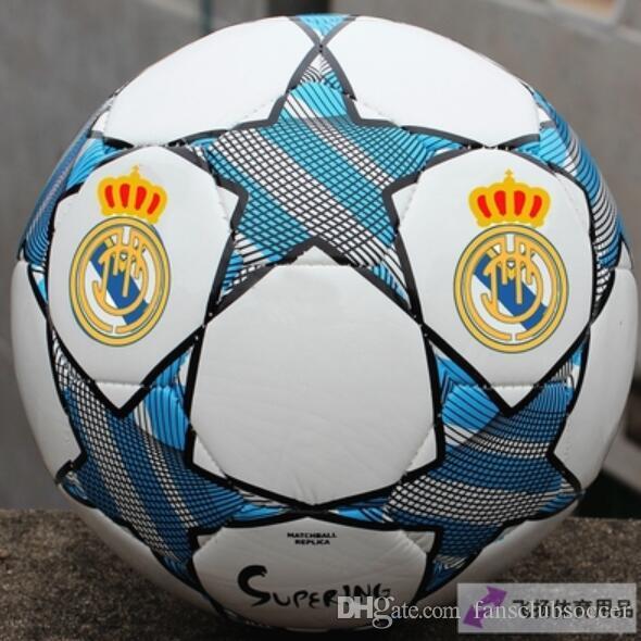 1cf1bfd633 Compre Real Madrid   5 De Boa Qualidade 2017 2018 A Bola De Futebol Da Liga  Dos Campeões Da Europa Estrelas Anti Skid Partículas Jogo De Treinamento  Bola De ...
