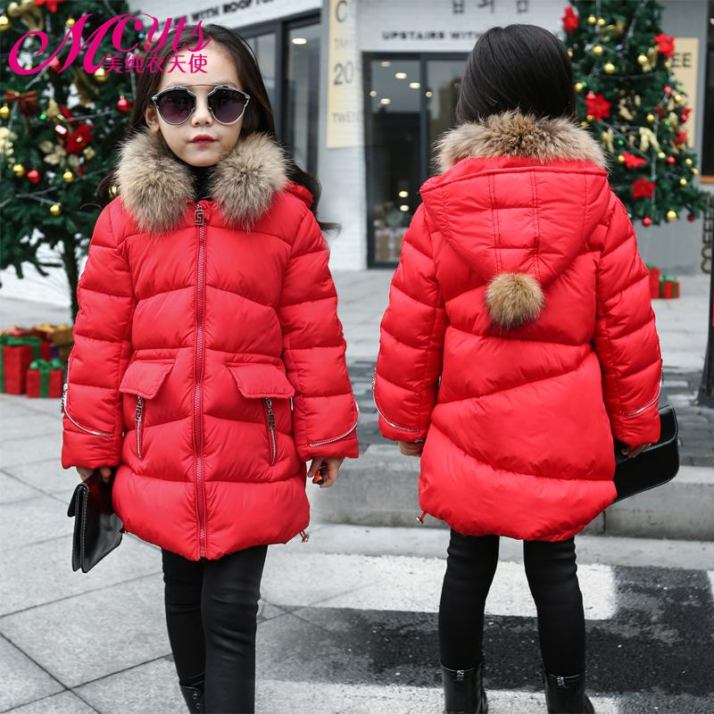 2017 новый девушки зимнее пальто дети зимняя куртка большой девственницы длинный раздел хлопок теплая куртка детские толстые мягкие пиджаки 3-12Т