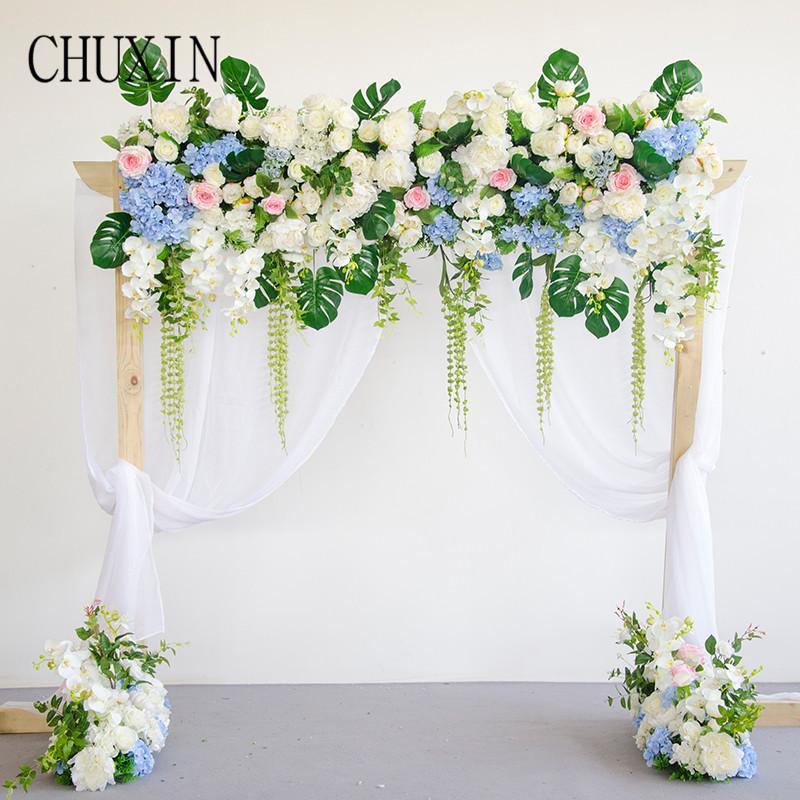 2019 High End Custom Simulation Rose Flower Row Wedding