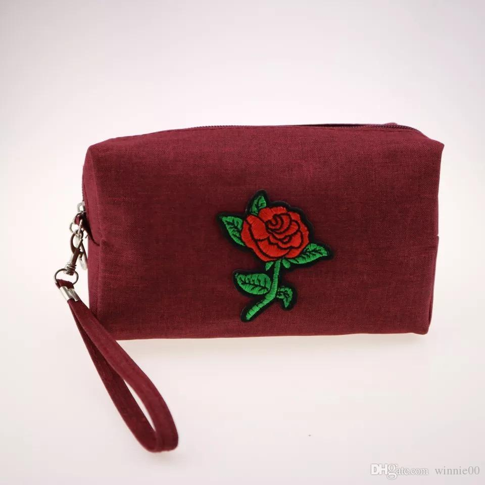 08ad6fa7d0 Wholesale Floral Cosmetic Bag Floral Bag Makeup Bag Custom Cosmetic Bag  With Zipper With High Quality UK 2019 From Winnie00