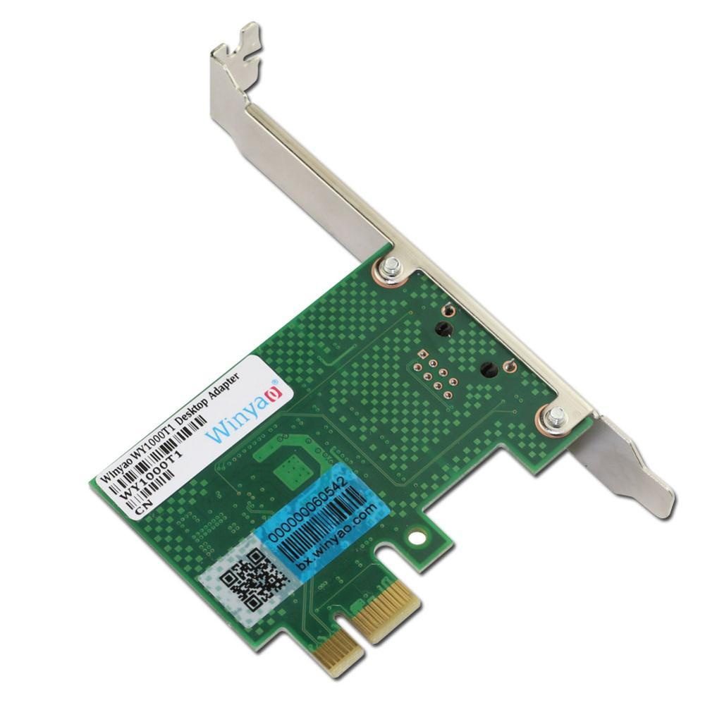 WY1000TI-E X1 10/100/1000M RJ45 Gigabit Ethernet Network Card Server Adapter Nic For Intel 82574L EXPI9301CT/9301CT