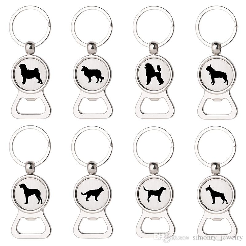 Dog Beer Bottle Opener Keychains Pug Chihuahua Schnauzer Husky Labrador  Printing Keyrings Men Women New Arrival Gift Jewelry Wholesale UK 2019 From  ... e5abb33893