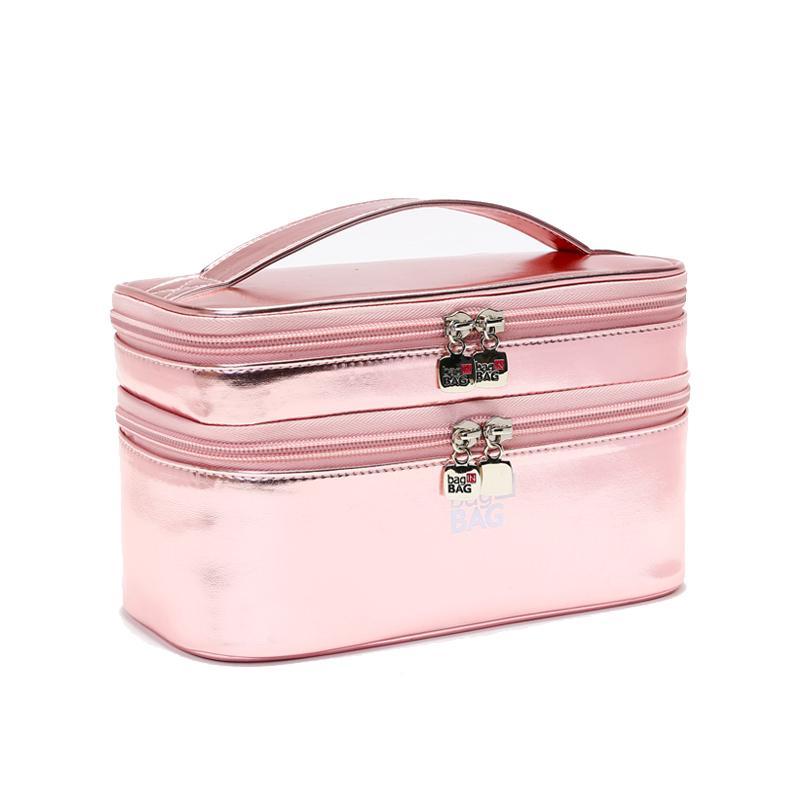 fd47e54ae Compre Para Mujer Moda Rosa Bolsa De Cosméticos Suave Cuero De LA PU Tela  De Lujo Bolsa De Organizador De Maquillaje Moda 2018 Mujeres De Oro 21 * 12  * 10 ...