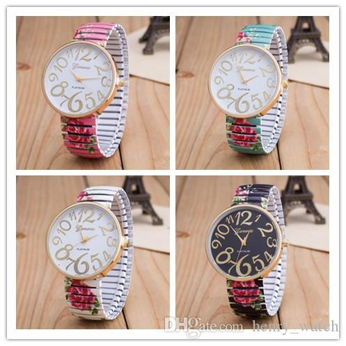 wholesale fashion big numbers dial lovers watch mens womens unisex leather dress quartz casual fashion 2017 wholesale wrist wa free shipping