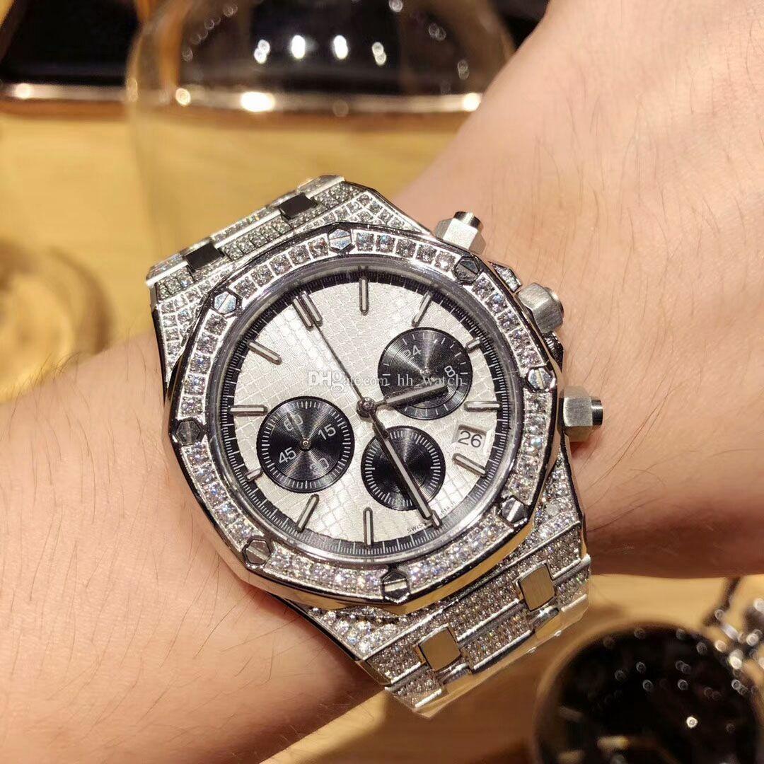 Grosshandel Top Luxusmarke Royal Oak Herren Diamant Uhr Aaa Qualitat