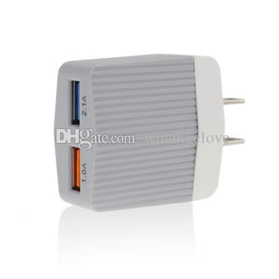 Colorido 2.1 + 1A Dual USB AC Travel EE.UU. enchufe de pared cargador para Samsung Galaxy S7 S8 Iphone 6 7 8 X adaptador de teléfono