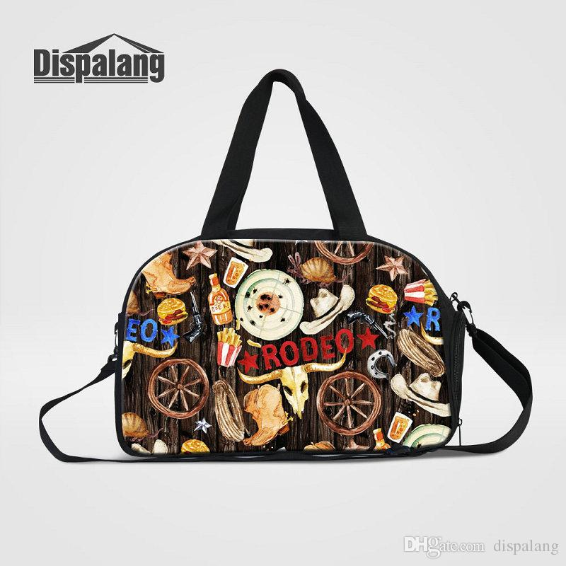 5aefca6979f7 Multifunctional Travel Duffle Bags With Shoes Pocket Cartoon RODEO Designer  Women Traveling Shoulder Bag Weekender Bag Gym Sport Sac Handbag Travel Bags  For ...