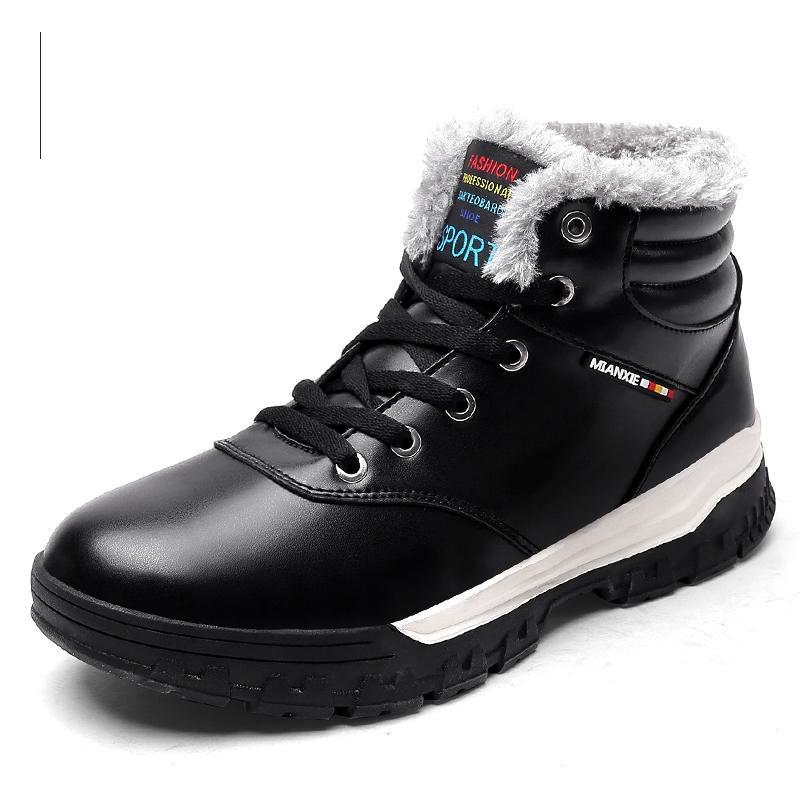 Nice Great Men zapatos de invierno de cuero de alta calidad más el tamaño 28 78 herramientas calzado de piel caliente Working Fahsion Male Botines