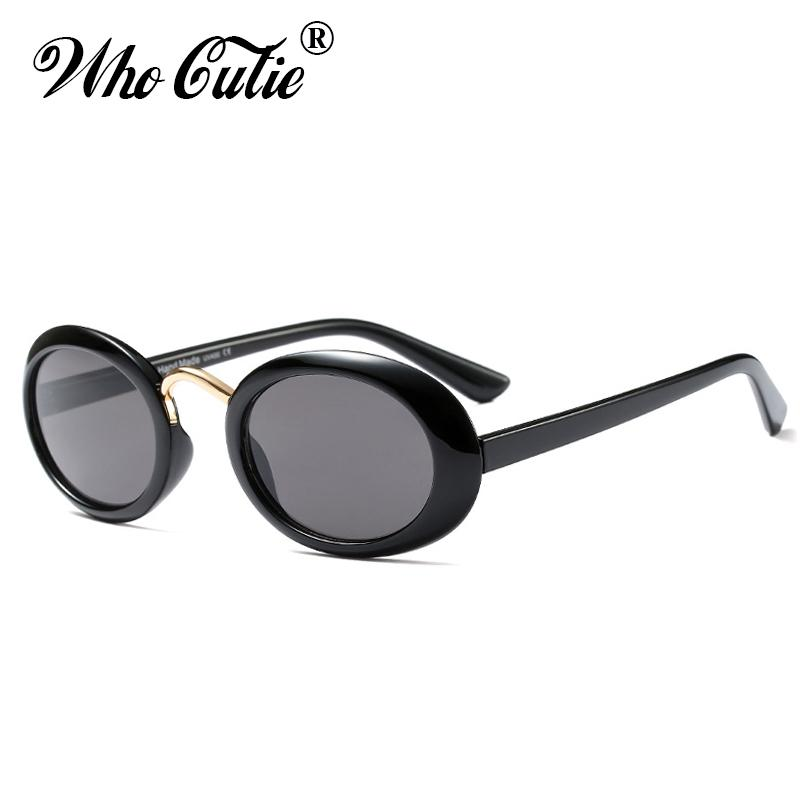 b18999d321 WHO CUTIE 2018 Black Oval Sunglasses Men Women Brand Designer Red Tortoise  Shell Pink 90S Sun Glasses Vintage Retro Shades OM591 Mirrored Sunglasses  Heart ...