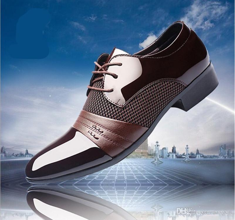 Compre EUR 38 38 38 47 Marca De Lujo De Diseñador De Charol Negro Zapatos c688fd