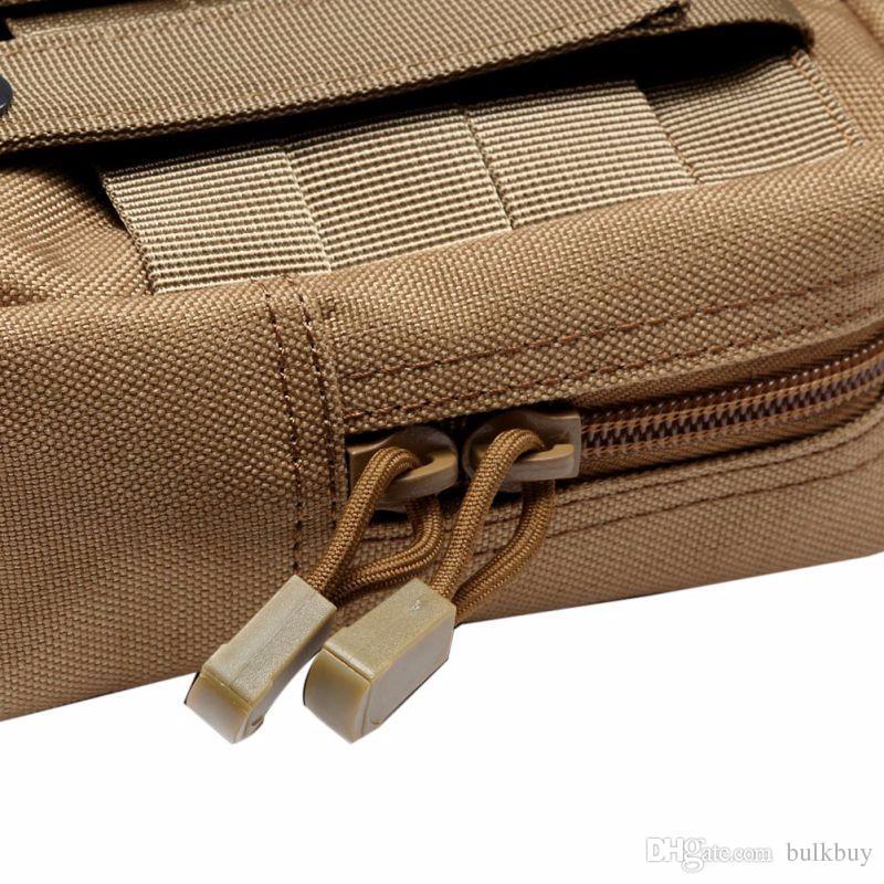 Multifuncional 1000D exterior militar táctico bolso de la cintura EDC Molle Tool cremallera paquete de la cintura accesorio bolsa de cinturón duradero
