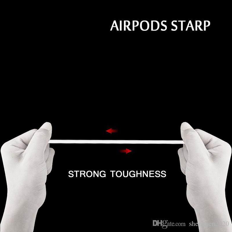 Airpod Protective Airpods Cover link cable Bluetooth Wireless Earphone Silicone Case Waterproof Anti-drop strap Accessories mix color Hot
