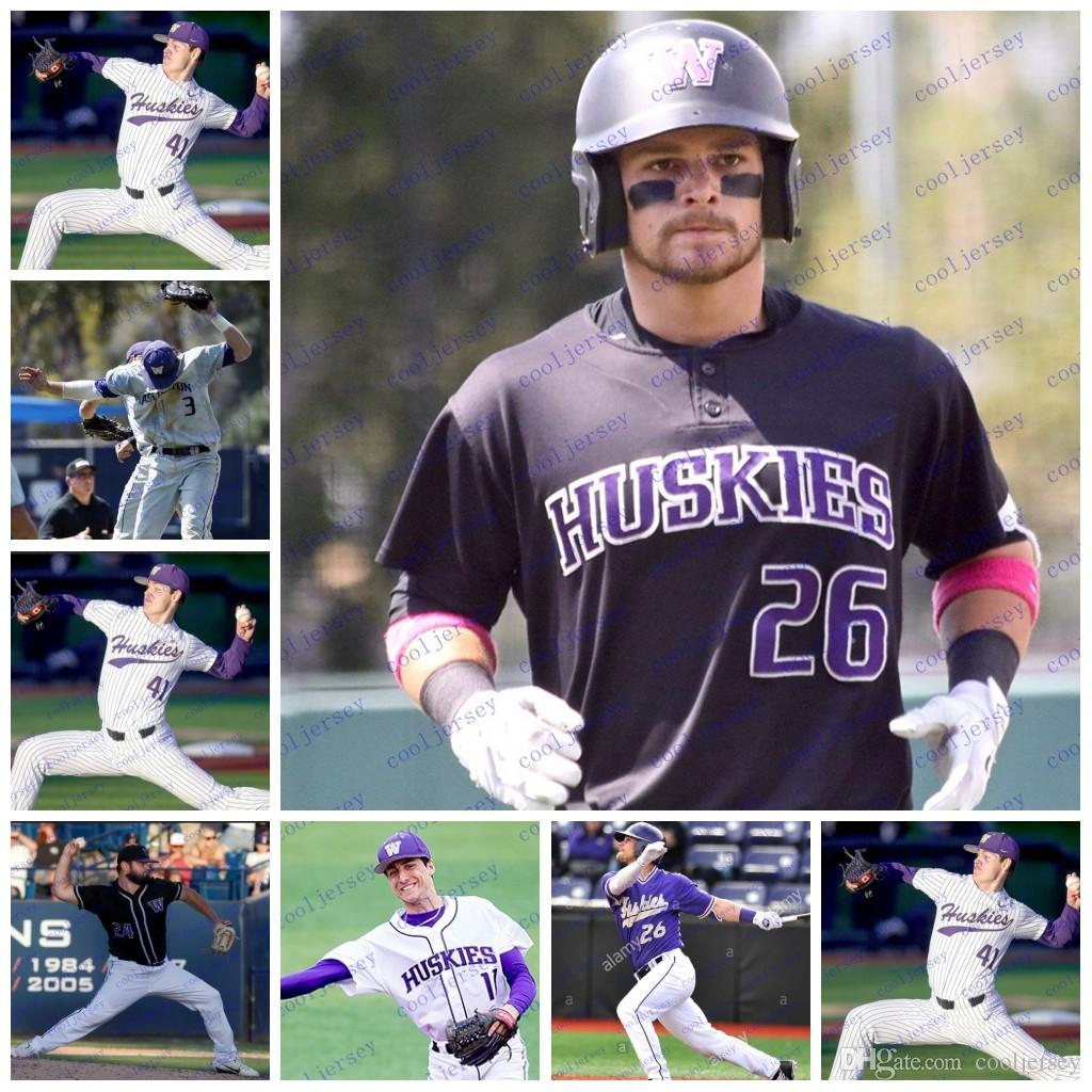 2019 Custom NCAA Washington Huskies College Baseball Personalized Stitched  Any Number Name  6 Mason Cerrillo 44 Joe Wainhouse Jersey White Purple From  ... cea88f2a1