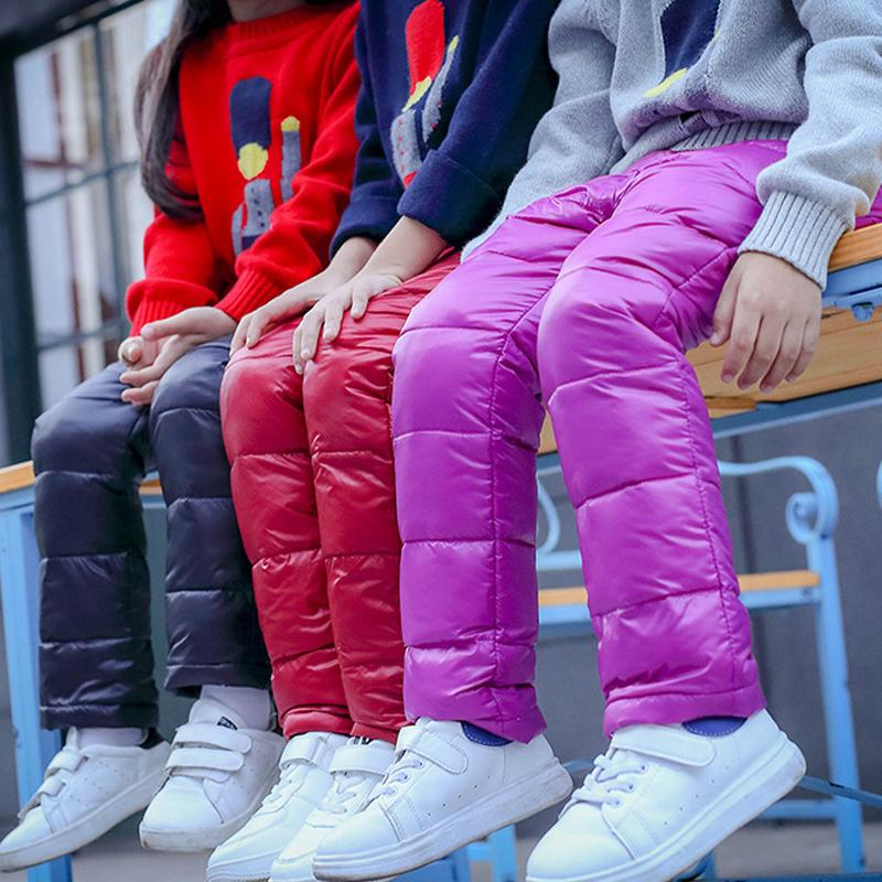 Boys Pants Girls Leggings Children Pants For Girls Winter Children Clothes Down Autumn kids Clothes Boys Clothing Child 2018