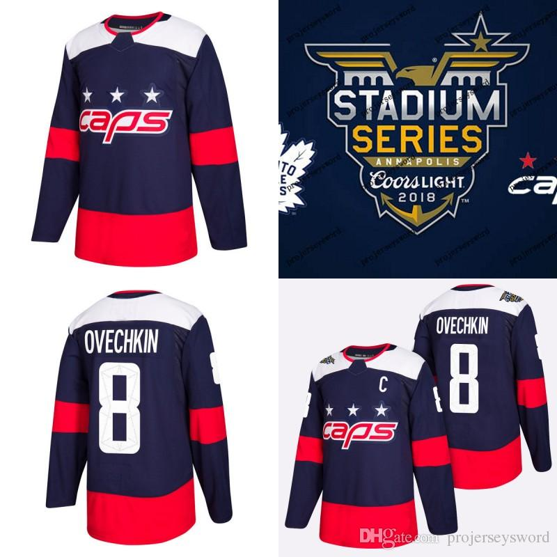 0d81864fe 2019 #8 Alex Ovechkin Jersey 2018 Stadium Series Washington Capitals #70  Braden Holtby #92 Evgeny Kuznetsov 100% Stitched Hockey Jerseys Blue From  ...