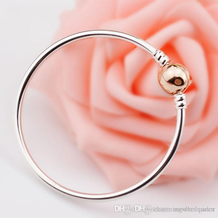 808867875 2019 Rose Gold Plated Bracelet Bangle Pulseira S925 Silver Fits For Pandora  Style Charms H8 580713 From Modernqueen, $26.16 | DHgate.Com