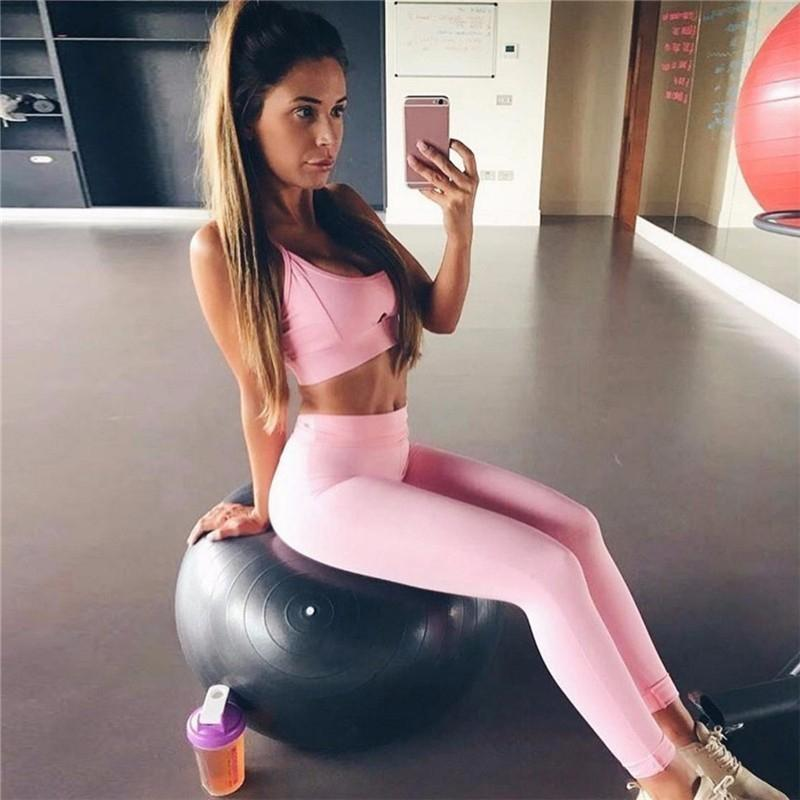 Home Latest Collection Of Women Workout Tracksuits Clothes Tank Top And Pants Summer Elastic Vest Top Shorts Sets Running Clothes Sports Suit Apparel For Fast Shipping