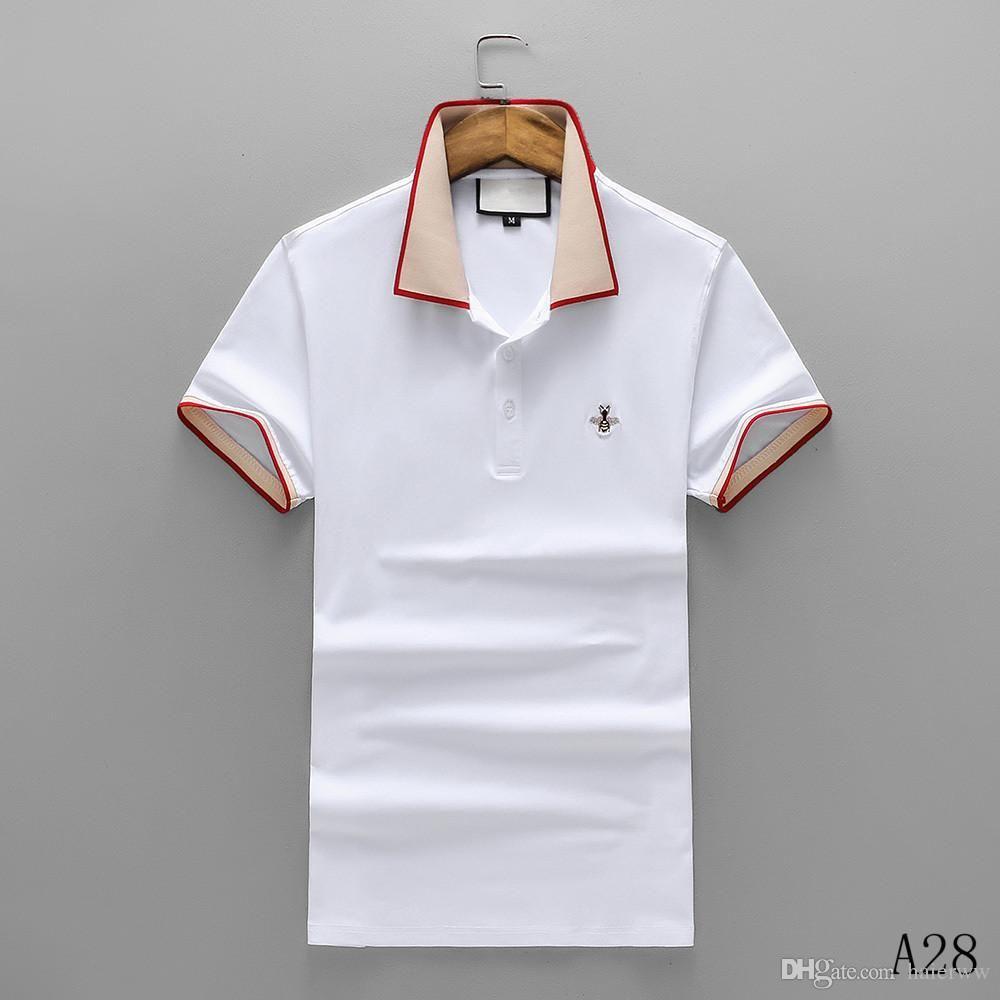 7820f817e14 Spring Summer 2019 Polo Shirt Fashion Designer Short Sleeved Polo T Shirts  Men Tee Design Printing Poloshirt Clothes Polos Tops 3XL Design Your Own T  Shirts ...