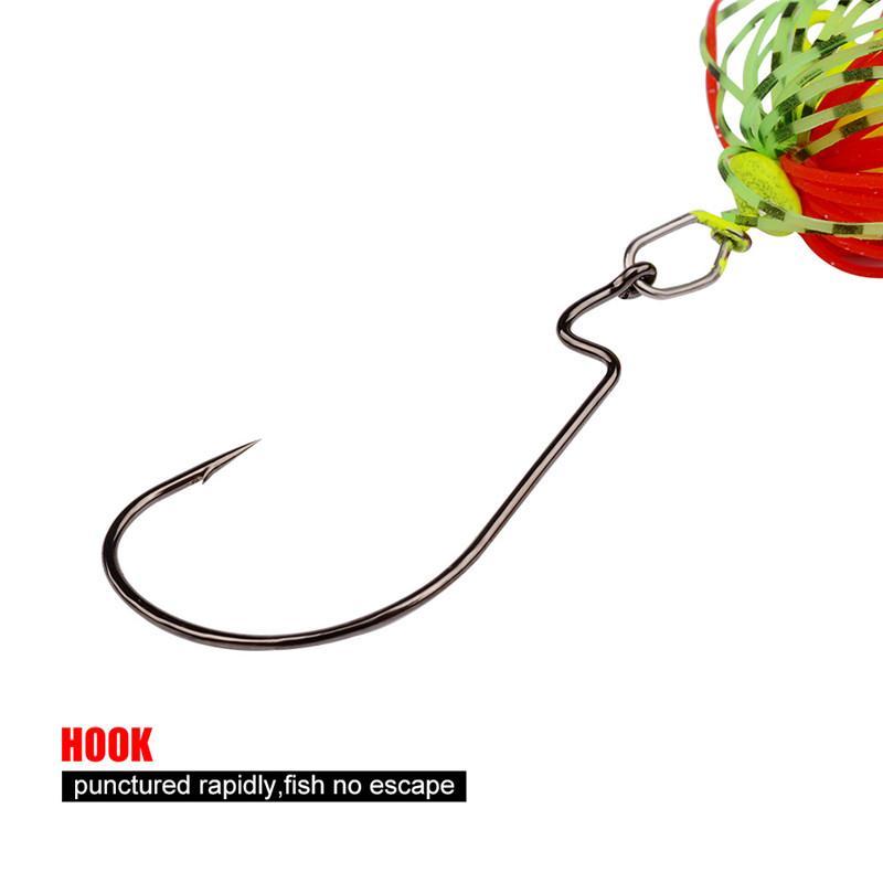 Eau douce Buzzbait Bass Spinnerbaits Leurre de pêche 5g 7g 10g 14g