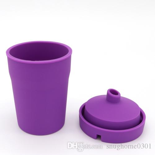 Glowing in The Dark Portable Silicone Auto Car Cigarette Ashtray Cup-Style With Lid Smokeless Stand Cylinder Cup Holder Self-Extinguishing