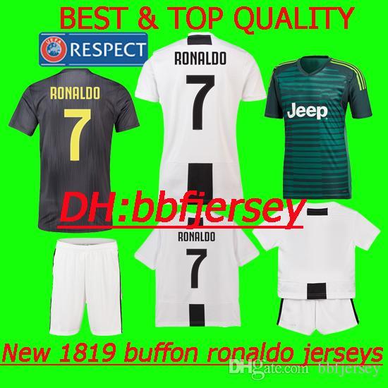 89963d2b481 2019 Thailand 18 19 Soccer Jerseys Kids Kit Goalkeeper Buffon Barzagli  Manjucci Costa 2019 PLAYER Version Ronaldo Jersey SERIE A Football Shirts  From ...