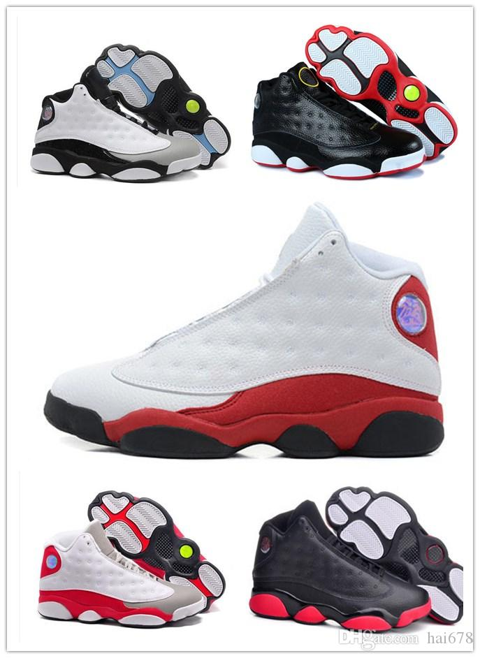36d8c29268d High Quality New Mens 13 Black Cat Basketball Shoes 13s White Women Chicago  Red XIII Trainer Sneakers Athletic Shoes Shoes Online From Hai678, ...