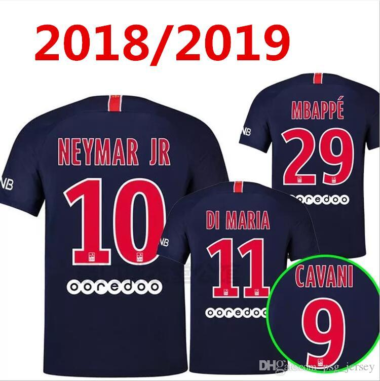 low priced 623e7 b0a65 New 18/19 psG MBAPPE PARIS NEYMAR JR DI MARIA SOCCER JERSEYS 2019 VERR0ATTI  MATUIDI CAVANI ZLATAN MAILLOT DE FOOT CAMISA FOOTBALL SHIRTS