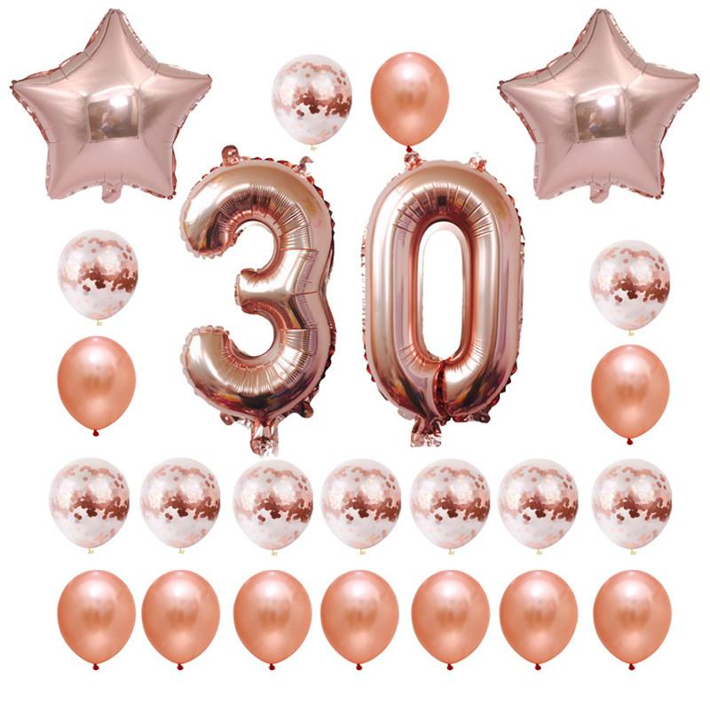 Party Baloon 18th 21st 30th Birthday Balloon 16 18 20 21 30 40 50 60 Decorations Happy Decoration Helium Supplies