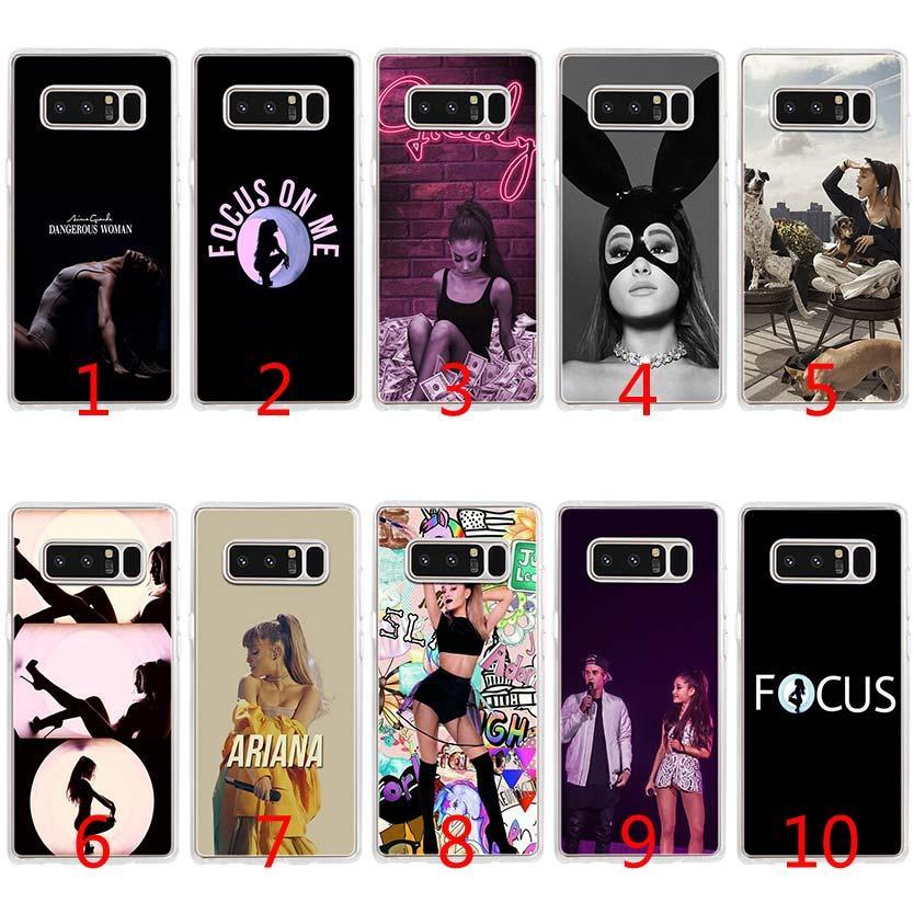 Ariana Grande singer Soft Silicone TPU Case for Samsung S7 Edge S8 Plus S9  Plus Note 9 8 Cover
