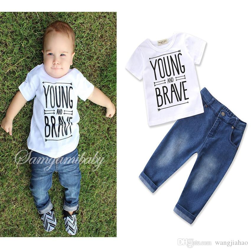 e81b060646f0 2019 2018 Newborn Baby Boy Outfits Cute Cotton T Shirt And Overalls ...